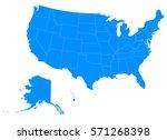 usa blue map   Shutterstock .eps vector #571268398