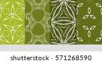 set of flower  geometric...   Shutterstock .eps vector #571268590