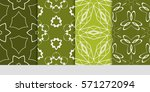 set of flower  geometric... | Shutterstock .eps vector #571272094