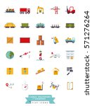 collection of flat design... | Shutterstock .eps vector #571276264