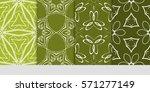 set of color floral  linear...   Shutterstock .eps vector #571277149