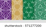 set of seamless floral...   Shutterstock .eps vector #571277200