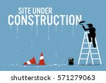 painter painting the word site... | Shutterstock .eps vector #571279063