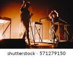 moderat performing concert in... | Shutterstock . vector #571279150