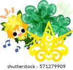 illustration of clover jewel... | Shutterstock .eps vector #571279909