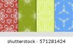 set of linear geometric... | Shutterstock .eps vector #571281424