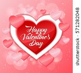 happy valentines day card ... | Shutterstock .eps vector #571282048