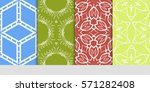 set of seamless floral... | Shutterstock .eps vector #571282408