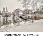 the bow bridge  is a cast iron... | Shutterstock . vector #571296313