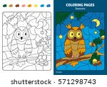 seasons coloring page for kids. ... | Shutterstock .eps vector #571298743