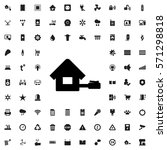 home icon illustration isolated ... | Shutterstock .eps vector #571298818