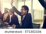 diverse people deal teamwork... | Shutterstock . vector #571302106