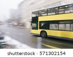 motion blur image of yellow... | Shutterstock . vector #571302154