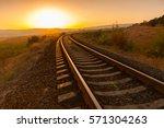 Railroad At Sunset