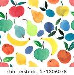bright tasty ripe juicy pears... | Shutterstock . vector #571306078