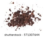 chopped chocolate isolated on... | Shutterstock . vector #571307644