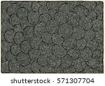 drawing halftone textures. hand ... | Shutterstock .eps vector #571307704