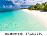 exotic tropical beach scene for ... | Shutterstock . vector #571311850