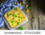 Outdoor Tart With Yellow...