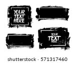 set of black paint  ink brush... | Shutterstock .eps vector #571317460