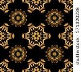 vector golden mehndi seamless...   Shutterstock .eps vector #571320238