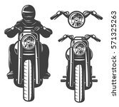 motorcycle chopper  front ... | Shutterstock .eps vector #571325263