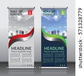 roll up brochure flyer banner... | Shutterstock .eps vector #571328779
