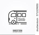 icon bus travel single icon... | Shutterstock .eps vector #571329850