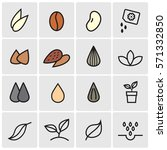 seeds and sprouts icons | Shutterstock .eps vector #571332850