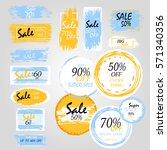geometrical social media sale... | Shutterstock .eps vector #571340356