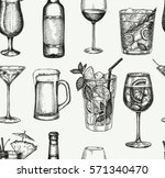 seamless pattern. alcoholic... | Shutterstock .eps vector #571340470