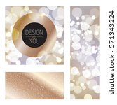 luxury background with gold... | Shutterstock .eps vector #571343224