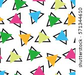 memphis style decoration... | Shutterstock .eps vector #571344610