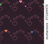 love symbols pixel pattern ...   Shutterstock .eps vector #571349470