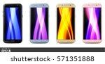 realistic vector mock up set of ... | Shutterstock .eps vector #571351888