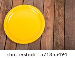 Fork On A Yellow Plate