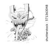 phee ta khon halloween... | Shutterstock . vector #571363048