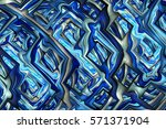 Abstract Intricate Glossy...