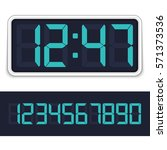 retro digital alarm clock with... | Shutterstock .eps vector #571373536