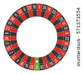 european roulette wheel.... | Shutterstock .eps vector #571373554