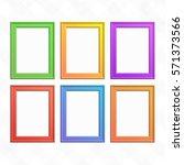 vector color frame set. empty... | Shutterstock .eps vector #571373566