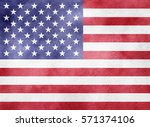watercolor flag background. usa | Shutterstock . vector #571374106