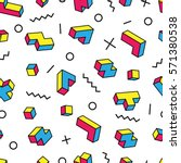 colorful game 3d blocks and...   Shutterstock .eps vector #571380538