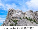 mount rushmore national... | Shutterstock . vector #571387120