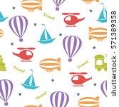 seamless vector bright pattern... | Shutterstock .eps vector #571389358