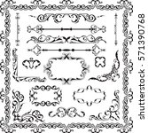 decor luxury art ornate set on... | Shutterstock . vector #571390768