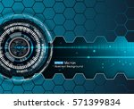 technical futuristic background | Shutterstock .eps vector #571399834