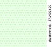 Green Heart Pattern. Seamless...
