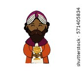 three wise man cartoon icon... | Shutterstock .eps vector #571405834