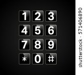 digital keypad with numbers for ... | Shutterstock .eps vector #571406890